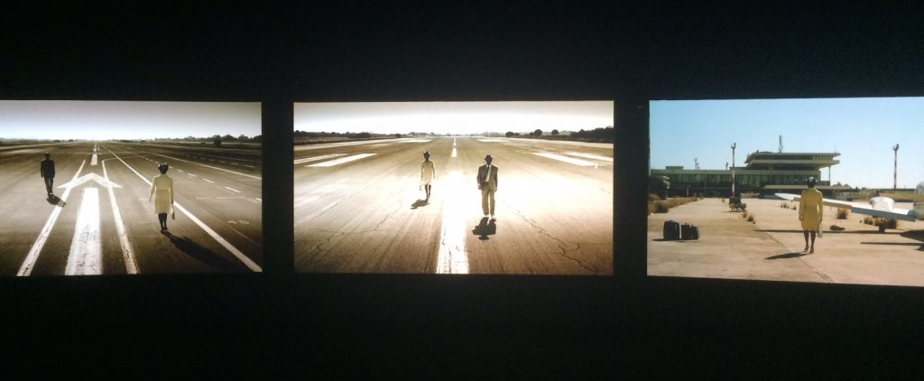 JOHN AKOMFRAH The Airport (2016). View of the installation at Suzhou Museum of Art.